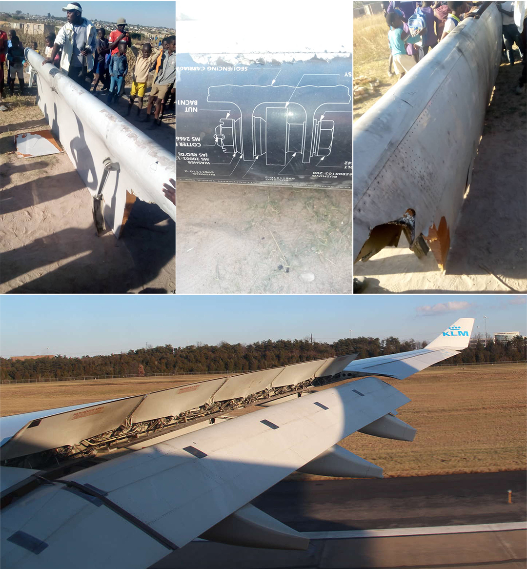 KLM cargo plane drops wing flap in Chitungwiza, lands safely in Harare