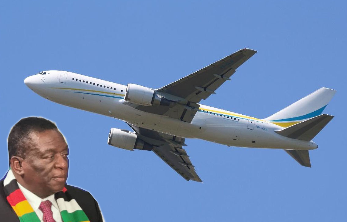 Image result for Mnangagwa private plane